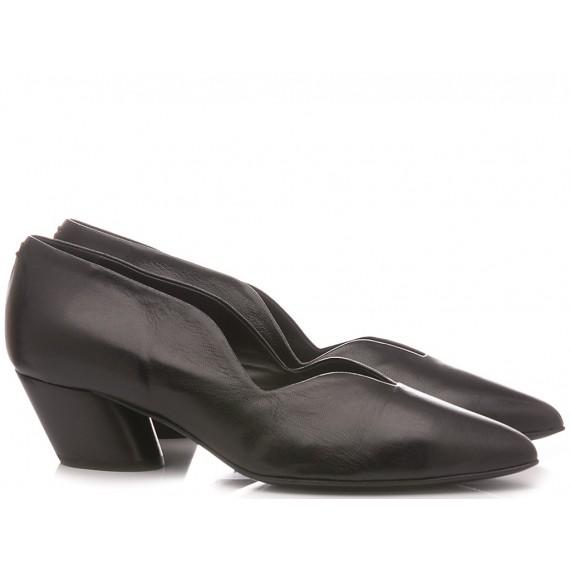 Halmanera Woman's Shoes Leather Juni 69 Black