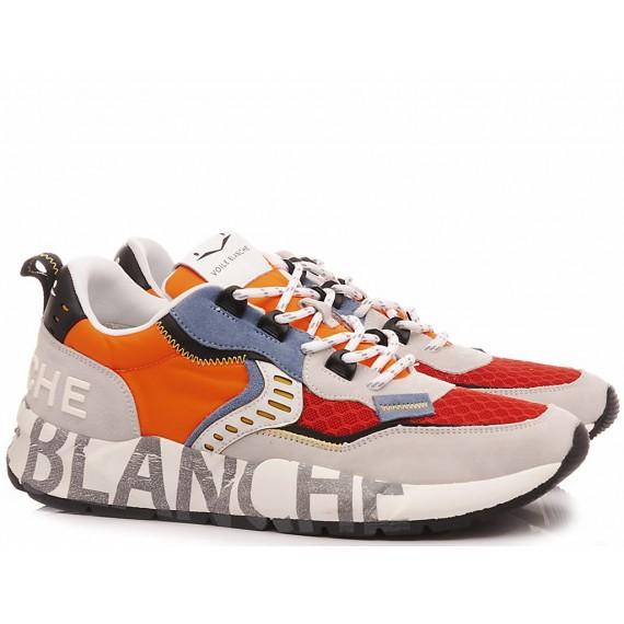Voile Blanche Herren Turnschuhe Club01 weiß-Orange-Rot