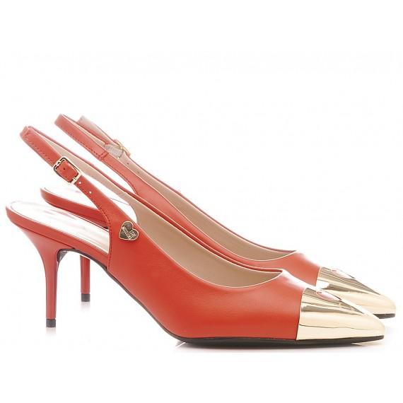 Love Moschino Scarpe Chanel Donna Pelle Rosso