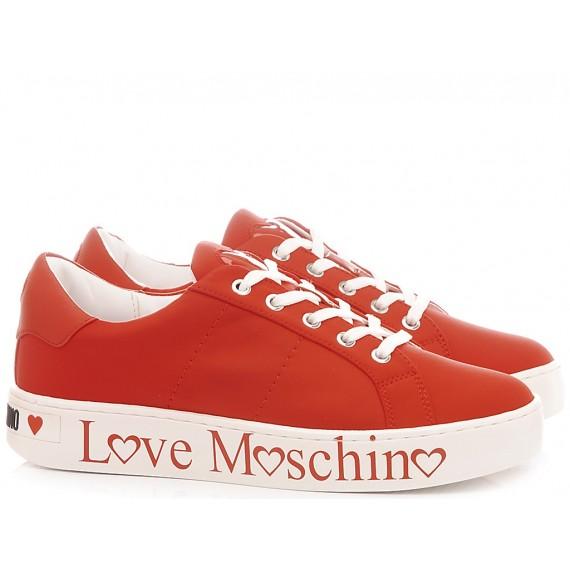 Love Moschino Scarpe Sneakers Donna Pelle Rosso