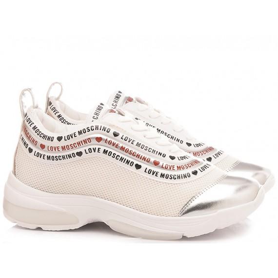 Love Moschino Scarpe Sneakers Donna Rete Bianco