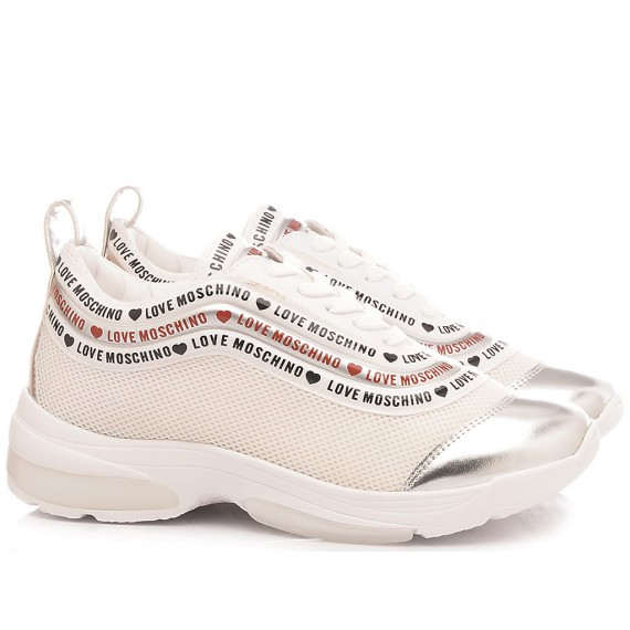 Love Moschino Women's Shoes-Sneakers White