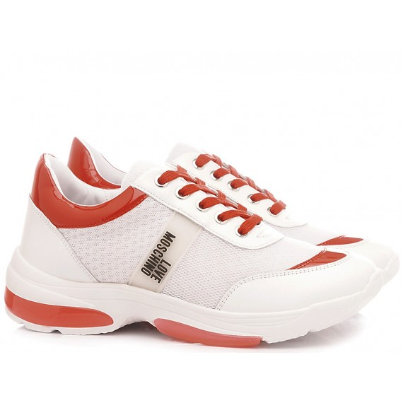 Love Moschino Women's Shoes-Sneakers Running White