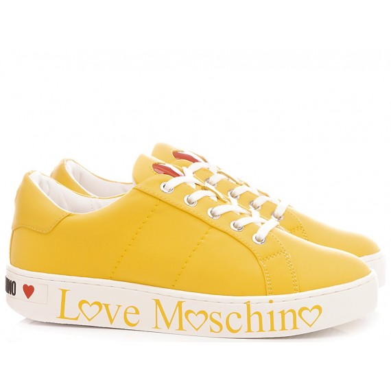 Love Moschino Women's Shoes-Sneakers Yellow