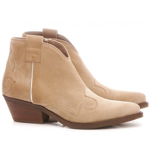 Janet & Janet Women's Ankle Boots Suede Taupe 45150
