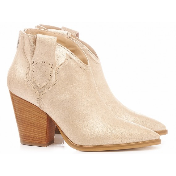 Janet & Janet Women's Ankle Boots Suede Platinum 45551