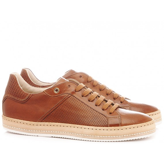 Corvari Men's Shoes Sneakers Cognac 9672
