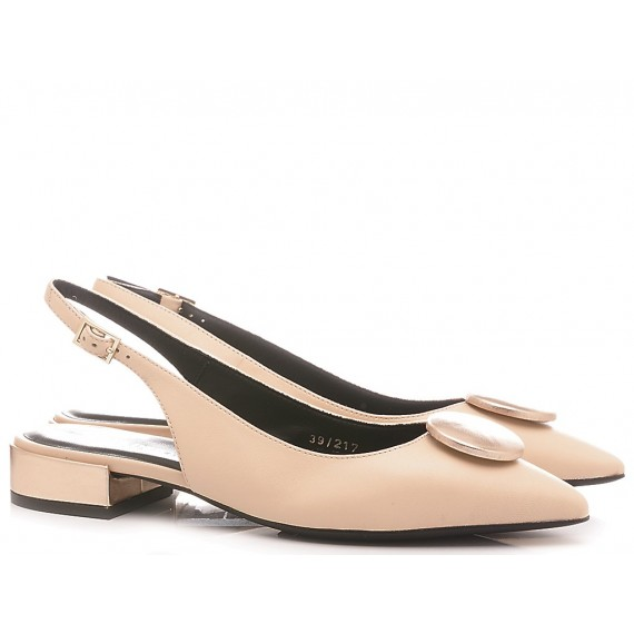 Adele Dezotti Damen Ballerina Schuhe Nackte Farbe AY0405X