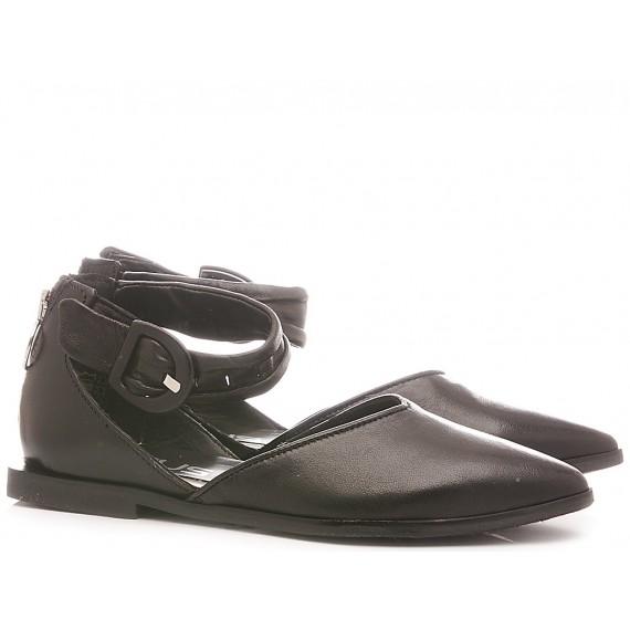 Mjus Women's Ballerina Shoes Leather Black M33111