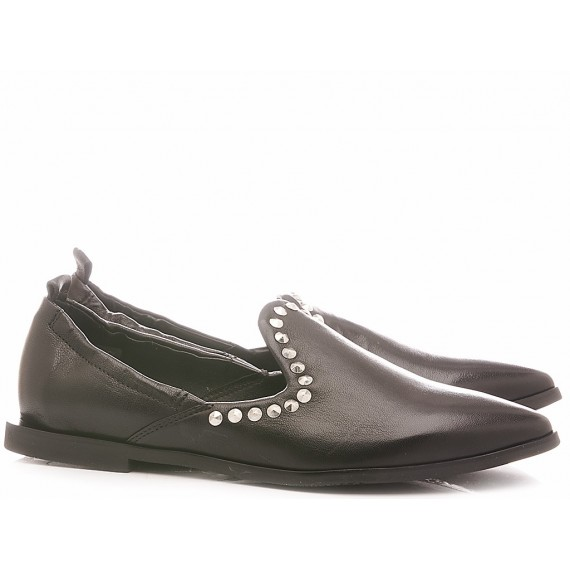 Mjus Women's Ballerina Shoes Leather Black M33103