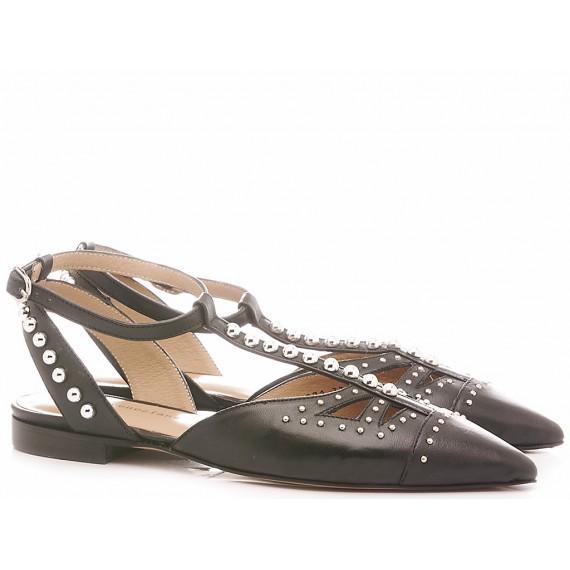 Poesie Veneziane Women's Ballerina Shoes Leather Black GMBUR23071/K