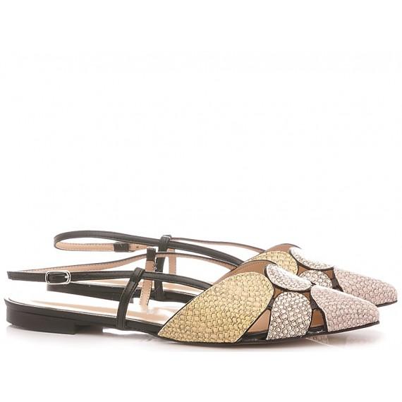 Les Autres Women's Ballerina Shoes Leather Blush-Sand 1990