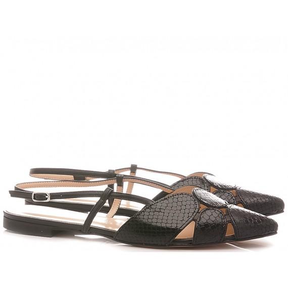 Les Autres Women's Ballerina Shoes Leather Black 1986