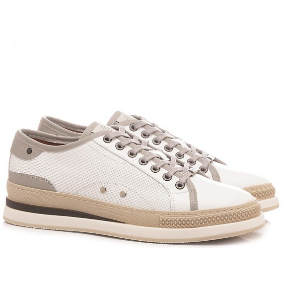 Ambitious Men's Sneakers Leather White 10529-3985AM