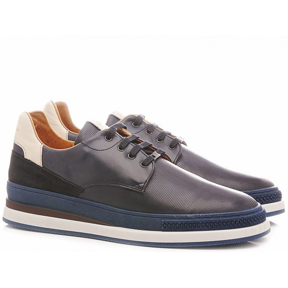 Ambitious Men's Sneakers Leather Navy 10609-3985AM