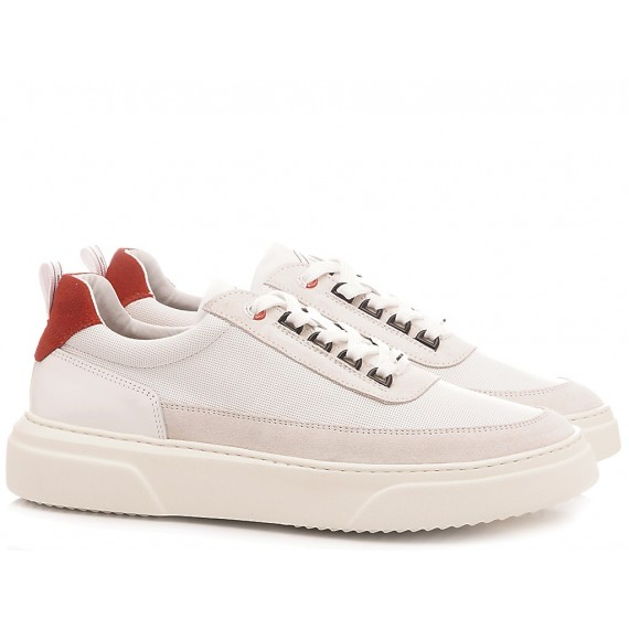 Ambitious Men's Sneakers Leather White 10399-1356AM