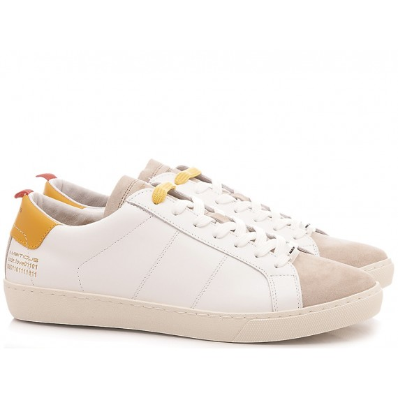 Ambitious Men's Sneakers Leather White 8102-1381AM1
