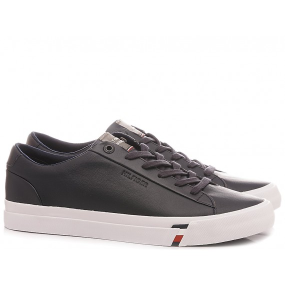 Tommy Hilfiger Sneakers Uomo Corporate Leather Blu