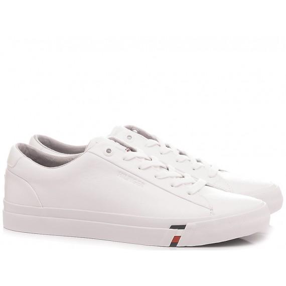 Herren Turnschuhe Tommy Hilfiger Corporate Leather Weiß
