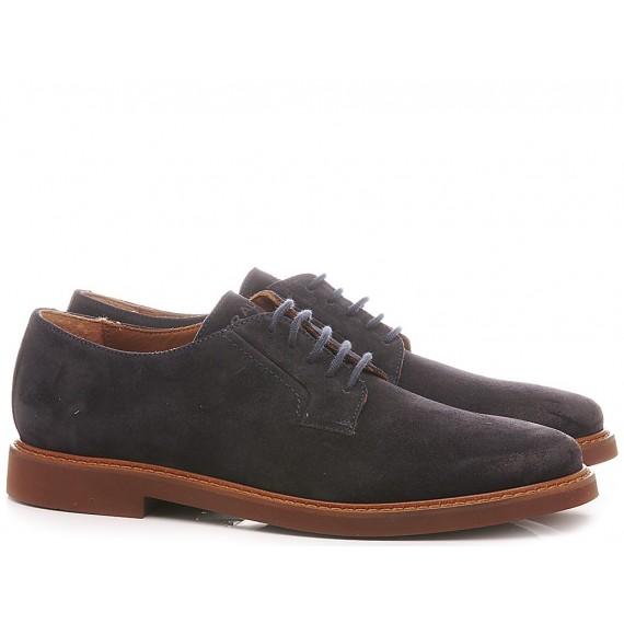 Frau Men's Shoes Suede Navy 3351