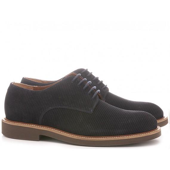 Frau Men's Shoes Suede Navy 3361