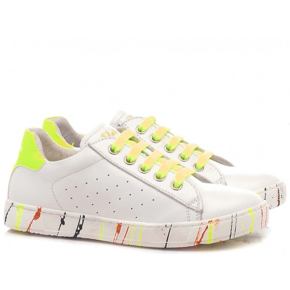 Naturino Children's Shoes Sneakers Leather White-Multicolor