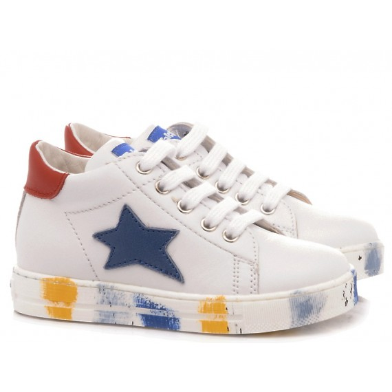 Falcotto Children's Shoes Sneakers Sasha White-Multi