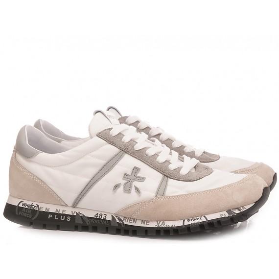 Premiata Sneakers Uomo Mick Pelle Tessuto Tecnico Blu 2341