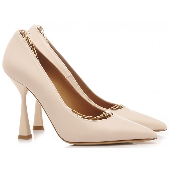 Mivida Women's Shoes Decollété Leather Nude 2704