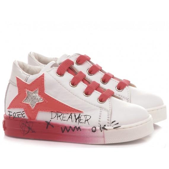 Falcotto Children's Shoes Sneakers Dave White-Fuxia