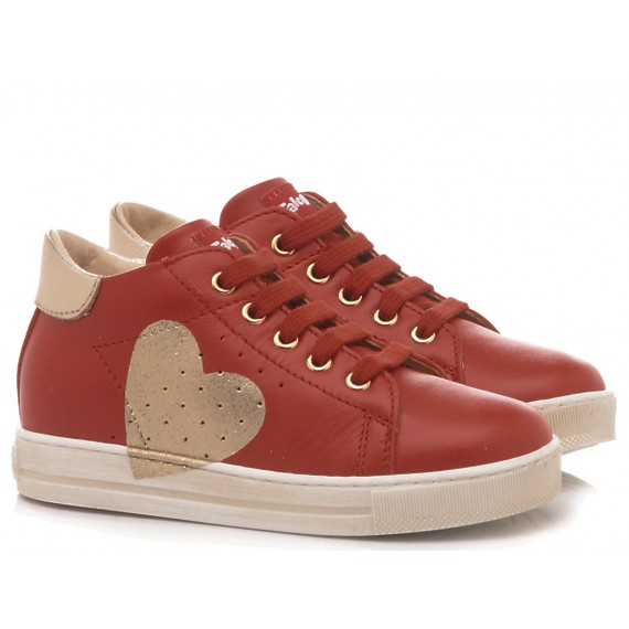 Falcotto Children's Shoes Sneakers Heart Red