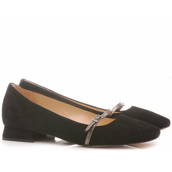 Les Autres Women's Ballerina Shoes Suede Black 269