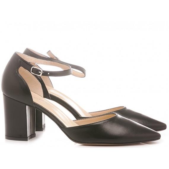 Les Autres Damen Schuhe Leder Schwarze Farbe 1358