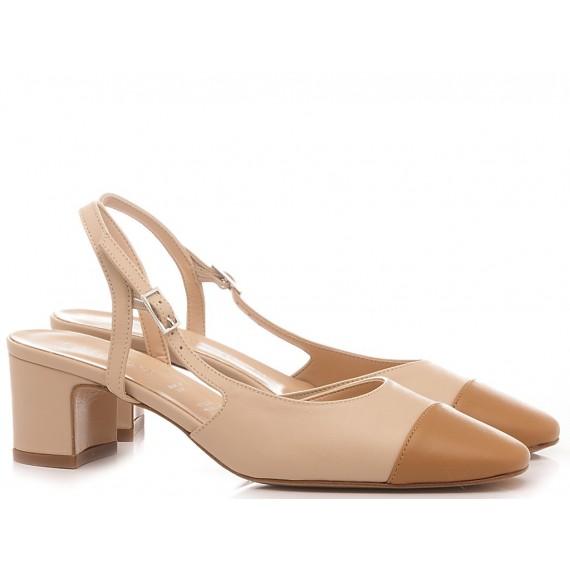 Les Autres Damen Schuhe Leder Nacke-Haselnussfarben 424