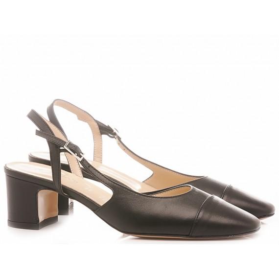 Les Autres Damen Schuhe Leder Schwarz 424