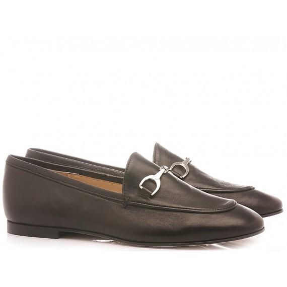 Les Autres Women's Loafers Leather Black 4002