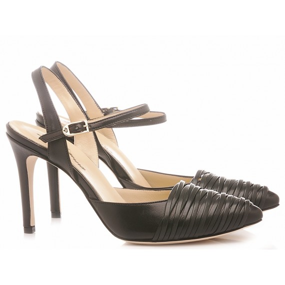L'Arianna Women's Shoes Leather Siviglia Black CH1233