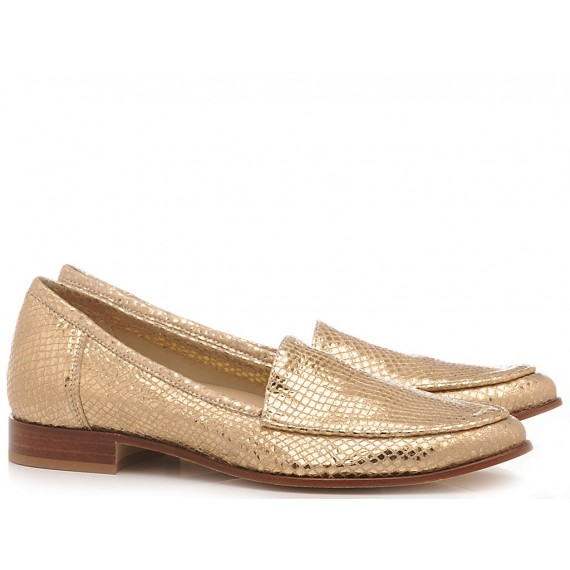L'Arianna Women's Shoes Loafers Mekong Gold MO1214