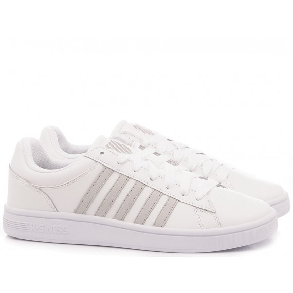 K.Swiss Men's Sneakers Court Winston White-Grey 06154-142-M