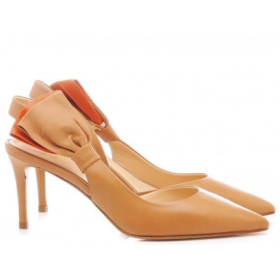 Chantal Woman's Shoes Chanel Cognac 1049
