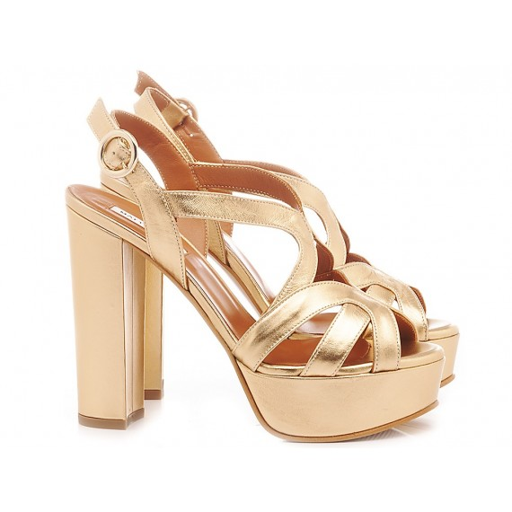 Matteo Pitti Women's Shoes-Sandals Gold