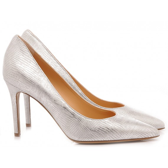 Matteo Pitti Women's Shoes-Decollété Silver