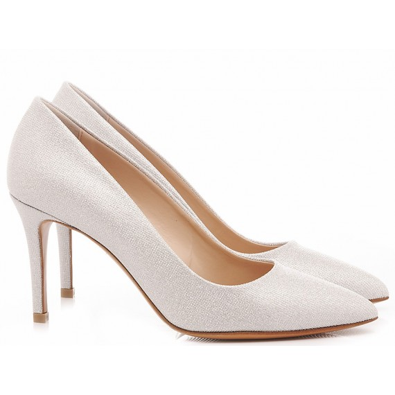 Albano Women's Shoes Decollété Mesh Silver 4021