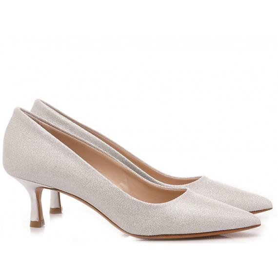 Albano Women's Shoes Decollété Mesh Silver 4075
