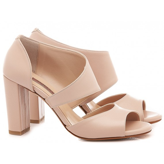 Albano Women's Shoes-Sandals Leather Nude 4058