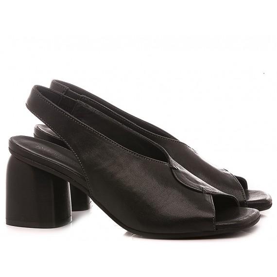 MAT:20 Women's Shoes-Sandals Leather Black 6000