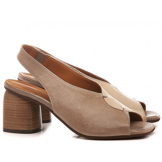 MAT:20 Women's Shoes-Sandals Leather Taupe 6000