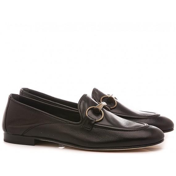 Poesie Veneziane Women's Shoes Loafers Leather Black JJA12