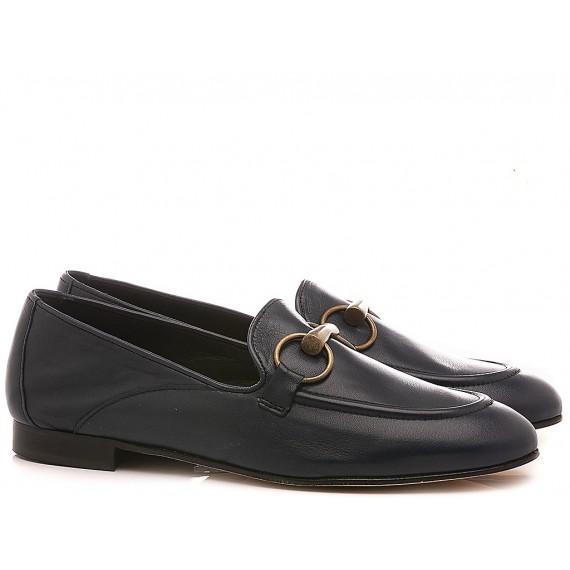 Poesie Veneziane Women's Shoes Loafers Leather Blue JJA12