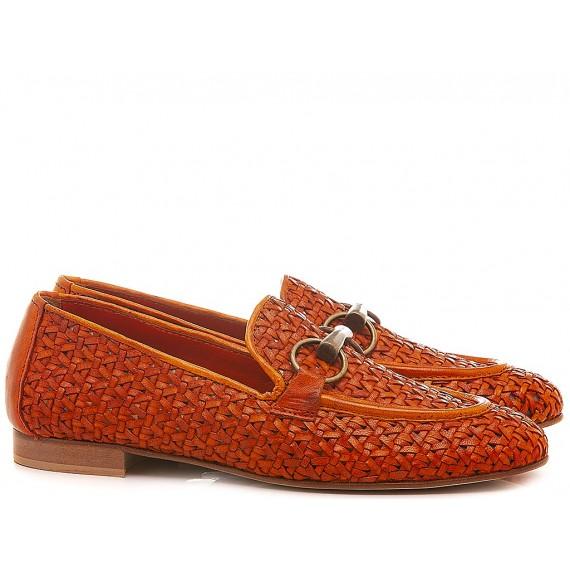 Poesie Veneziane Women's Shoes Loafers Leather Orange JJA12